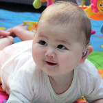 A baby with hearing loss - The Elizabeth Foundation for deaf children - Lets Listen and Talk baby programme
