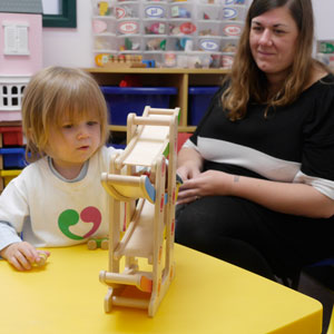 Preschool child with hearing loss